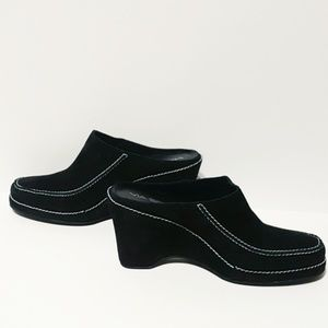 Via Spiga Suede Wedge Mule/Loafer